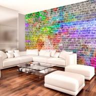 Fototapeta  Tęczowy mur
