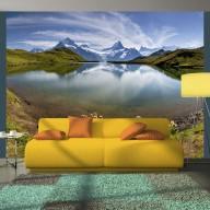 Fototapeta  Góry odbijające się w tafli jeziora, Szwajcaria