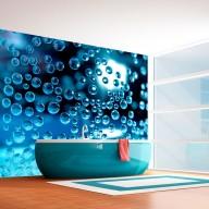 Fototapeta  Niebieska woda z bąbelkami