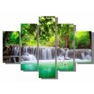Obraz - wodospad w lesie