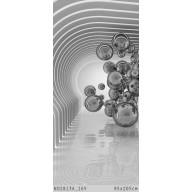 Kule w futurystycznym pokoju 3D