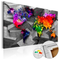 Obraz na korku  Sześcienny świat [Mapa korkowa]