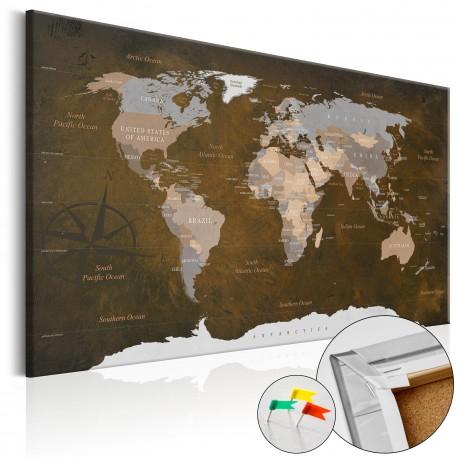 Obraz na korku  Cynamonowe podróże [Mapa korkowa]