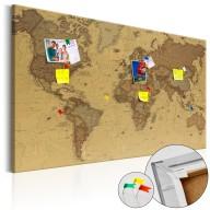 Obraz na korku  Starożytna mapa świata [Mapa korkowa]