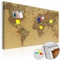 Obraz na korku - Starożytna mapa świata [Mapa korkowa]