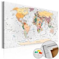 Obraz na korku  Mury świata [Mapa korkowa]