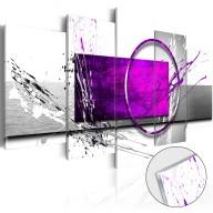 Obraz na szkle akrylowym  Purpurowa ekspresja [Glass]