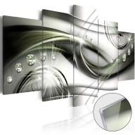 Obraz na szkle akrylowym  Fala zielonego blasku [Glass]