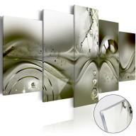 Obraz na szkle akrylowym  Zielona konfiguracja [Glass]