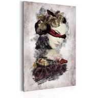 Plakat metalowy  Portrety Tajemnicza dama [Allplate]