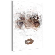 Plakat metalowy  Portrety Piękno w jej oczach [Allplate]