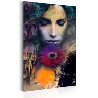 Plakat metalowy  Portrety Zmysłowa dziewczyna [Allplate]