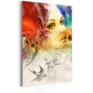 Plakat metalowy  Portrety Ognista kobieta [Allplate]