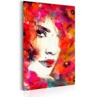 Plakat metalowy  Portrety Kobieta w makach [Allplate]