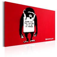 Plakat metalowy  Laugh Now by Banksy [Allplate]