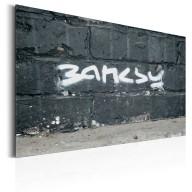 Plakat metalowy  Podpis Banksyego [Allplate]