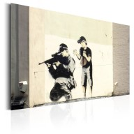 Plakat metalowy  Sniper and Child by Banksy [Allplate]
