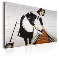 Plakat metalowy  Maid in London by Banksy [Allplate]