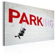 Plakat metalowy  Parking Girl Swing by Banksy [Allplate]