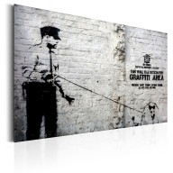 Plakat metalowy  Graffiti Area (Police and a Dog) by Banksy [Allplate]