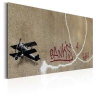 Plakat metalowy  Love Plane by Banksy [Allplate]