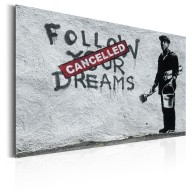 Plakat metalowy  Follow Your Dreams Cancelled by Banksy [Allplate]