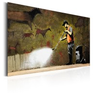 Plakat metalowy  Cave Painting by Banksy [Allplate]