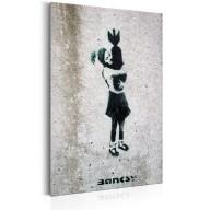 Plakat metalowy  Bomb Hugger by Banksy [Allplate]