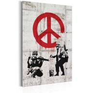 Plakat metalowy  Soldiers Painting Peace by Banksy [Allplate]