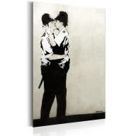 Plakat metalowy  Kissing Coppers by Banksy [Allplate]