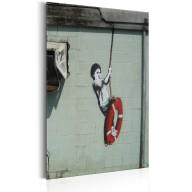 Plakat metalowy  Swinger, New Orleans  Banksy [Allplate]