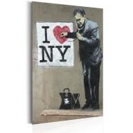 Plakat metalowy  I Love New York by Banksy [Allplate]