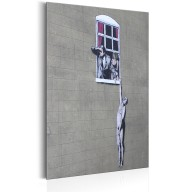 Plakat metalowy  Well Hung Lover by Banksy [Allplate]