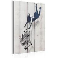 Plakat metalowy  Shop Til You Drop by Banksy [Allplate]
