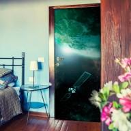 Fototapeta na drzwi  Zielona galaktyka