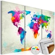 Obraz na korku - Kolorowa ekspresja [Mapa korkowa]