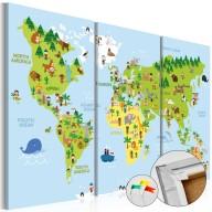 Obraz na korku  Dziecięcy świat [Mapa korkowa]