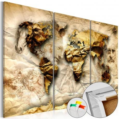 Obraz na korku  Anatomia świata [Mapa korkowa]