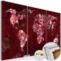 Obraz na korku - Rubinowy świat [Mapa korkowa]