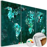 Obraz na korku  Szmaragdowy świat [Mapa korkowa]