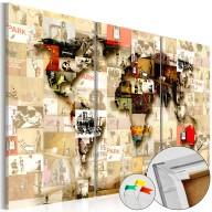 Obraz na korku  Graffiti World [Mapa korkowa]