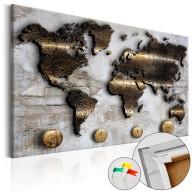 Obraz na korku - Złota podróż [Mapa korkowa]