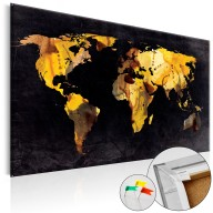 Obraz na korku  A gdyby świat był pustynią... [Mapa korkowa]