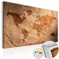 Obraz na korku  Papierowa mapa [Mapa korkowa]