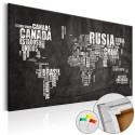 Obraz na korku - Mundo Negro [Mapa korkowa]