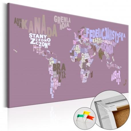 Obraz na korku  Bajkowy świat (PL) [Mapa korkowa]