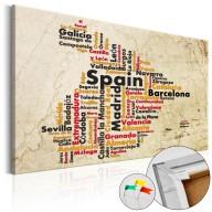 Obraz na korku  Hiszpańskie miasta (ES) [Mapa korkowa]