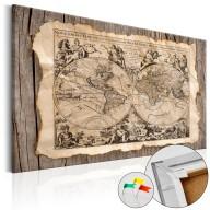 Obraz na korku  Mapa przeszłości [Mapa korkowa]