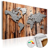 Obraz na korku  Granice nowoczesności [Mapa korkowa]