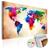 Obraz na korku - Kolorowa włóczęga [Mapa korkowa]